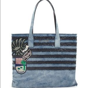 Marc Jacobs Denim Wingman Tote w/ coin pouch NWT